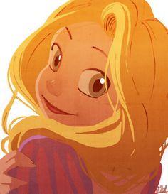 Rapunzel sketch -colored- by VPdessin.deviantart.com on @deviantART