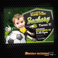 Soccer Invitation  Soccer Party  Soccer by MonsterInvitations, $10.00