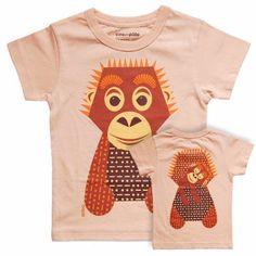 T-Shirt «ORANG-UTAN» von Mibo - weloveyoulove  - 1 Orang Utan, Coton Biologique, Tee Shirts, Tees, Bunt, Orange, Clothes, Collection, Animaux