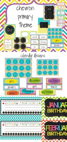 Everything you need to set up your classroom with a beautiful chevron theme! $