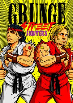 Street Fighter Grunge: Las estrellas del Grunge mimetizados con los personajes de Street Fighter