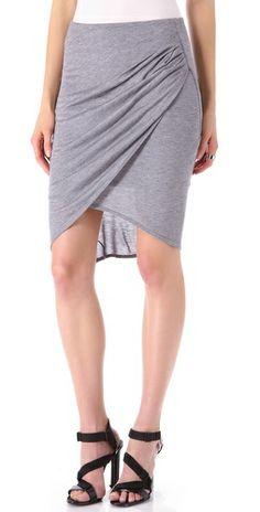 HELMUT Helmut Lang Kinetic Jersey Side Gather Skirt
