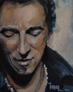Bruce Springsteen Painting - It's Boss Time II - Bruce Springsteen Portrait by Khairzul MG Elvis Presley, The Boss Bruce, Bruce Springsteen The Boss, Art Pages, Portrait Art, Rock Music, Rock Art, Art For Sale, Rock And Roll