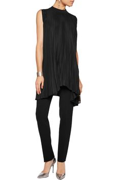 Shop on-sale Vionnet Asymmetric plissé silk-blend chiffon and silk-blend jersey top. Browse other discount designer Tops & more on The Most Fashionable Fashion Outlet, THE OUTNET.COM