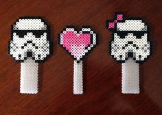 Star Wars Inspired Storm Trooper Cake Topper perler beads by Erin Bunuan
