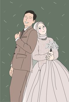 Wedding Illustration, Couple Illustration, Illustration Art, Couple Aesthetic, Aesthetic Art, Cute Backgrounds, Cute Wallpapers, Couple Drawings, Art Drawings