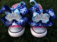 PRINCESS CINDERELLA SHOES - Cinderella Birthday - Cinderella Party - Cinderella costume - Converse - Infant/Toddler/Youth. $79.99, via Etsy.