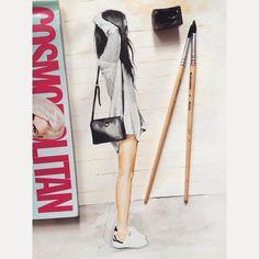 Сегодня день акварели и журнала Cosmopolitan! #акварель #art #color #watercolor #sketch #sketches #follow #fashionsketch #illustration #illustrationfashion #InstaSize #draw #акварель #cosmopolitan #cosmo