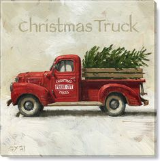 I don't know why a vintage Red Truck with a Christmas tree is so popular! Giclee print Christmas Truck from the Darren Gygi Home Collection.