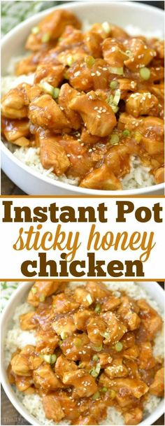 This spicy honey Instant Pot chicken just takes 4 minutes to. This spicy honey Instant Pot chicken just takes 4 minutes to cook and comes out mois. Instant Recipes, Instant Pot Dinner Recipes, Instant Pot Chinese Recipes, Healthy Recipes For Dinner, Instant Pot Meals, Healthy Dinners For Kids, Cooking Recipes For Dinner, Cook Dinner, Fast Healthy Meals