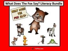 In What does the Fox Say Literary Bundle, learners read frequently used words in a animated PowerPoint timed to the humorous Ylvis song, The Fox. This huge bundle unit also contains over 25 printable pages of worksheets, keys, assessments and a center activity for primary elementary school students. http://www.teacherspayteachers.com/Product/What-Does-The-Fox-Say-Language-Arts-Bundle-1172785