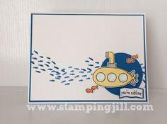 You're Sublime, Sea Street - SU - Cute submarine card