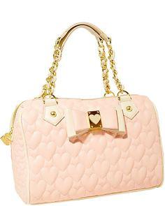 BE MY HONEY BUNS MEDIUM SATCHEL BLACK accessories handbags non leather satchels