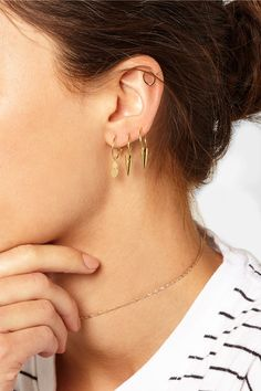 I+I | Pineapple gold-plated hoop earrings | NET-A-PORTER.COM