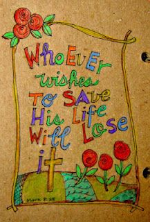Scripture Art Journaling Page by Patsy at HeARTworks