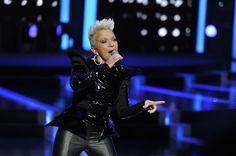 Małgorzata Ostrowska and our shiny black jacket!