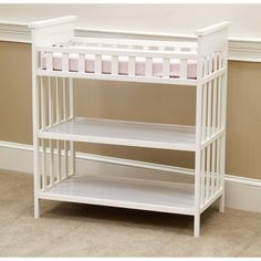 Child of Mine by Carter's Woodhaven Changing Table, Vintage White - WMT. An option?