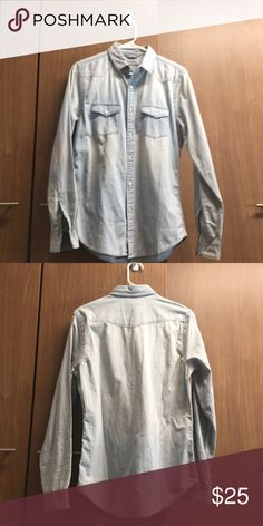 Express denim shirt I've only worn it once, so it's in great condition! Express Shirts Casual Button Down Shirts