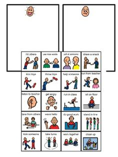 These pictures are used to help students decide if an action is a good choice (giving a high five) or a bad choice (throwing books). This can be done with individuals as well as a small group for social skills. There are good choice and a bad choice sorting mats that can be printed on green and red paper