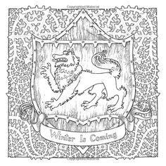 'Game of Thrones' a son livre de coloriages officiel - Winter is coming!