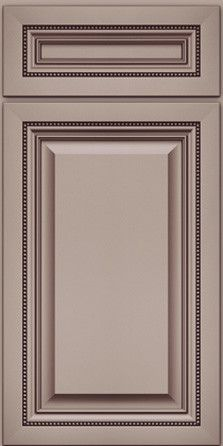 Door Detail - Square Raised Panel - Solid (ALM) Maple in Canvas w/Cocoa Glaze - KraftMaid Cabinetry Classic Kitchen Cabinets, Kitchen Cabinet Interior, Kitchen Doors, Wood Cabinet Doors, Cabinet Door Styles, Kitchen Cabinet Styles, Cabinet Colors, Kraftmaid Cabinets, Wall Molding