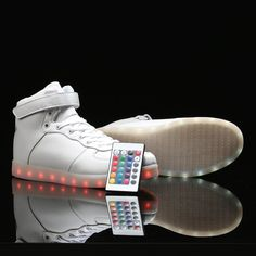 save off 4d506 09ee2 Best White Led Remote Controlled Sneakers for Adults · Light Up SneakersLight  Up ShoesShoes SneakersAdidas SneakersOne ColorColor ChangeWhite ...