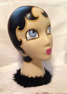 Landfill Ladies Prims Hand Painted Mannequin Display Head by LBDK