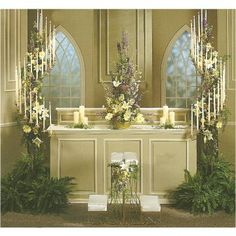 Stunning ideas for decorating whole church.  See this site's free flower tutorials.  Learn how to make bridal bouquets, corsages, boutonnieres, reception table centerpieces and church decorations. Buy wholesale fresh flowers and discount florist supplies.