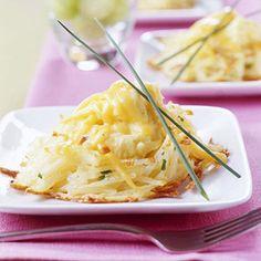 Scrambled Eggs in Potato Nests