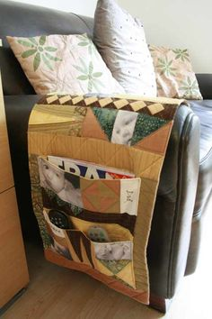 Get in Control - the Armchair Caddy Class Starts October - The Magic Bean Remote Caddy, Remote Control Holder, Sewing Tutorials, Sewing Projects, Diaper Bag, Armchair, Weaving, Quilts, Storage