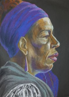 Thelma, pastel on paper