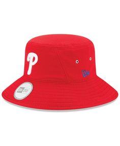 8201b72b1be New Era Philadelphia Phillies Redux Bucket Hat Red Bucket Hat