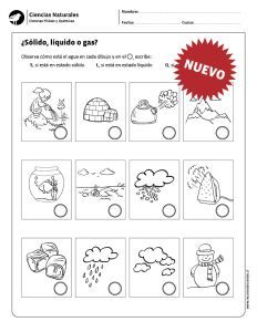 Sólido líquido o gas? Science Worksheets, Science Lessons, Science Activities, Writing Activities, Science Ideas, States Of Matter, O Gas, Online Journal, Scientific Method