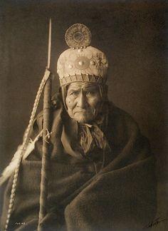 Geronimo (Apache) by Edward Curtis (Navajo)