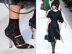 Calze, calzini, collant. Le gambe si (s)coprono nelle sfilate della Milano Fashion Week PE 2018