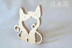 Old Tools And Woodworking - litery i napisy z drewna, wsporniki, półki z drewna: Koty, koty, koty - koty z drewna