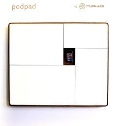 podpad von ruphus mit weißen türen-docking-station für iphone integriert