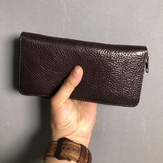 f4e116402d86 Genuine Leather Mens Cool Long Leather Phone Wallet Zipper Clutch Wallet  for Men
