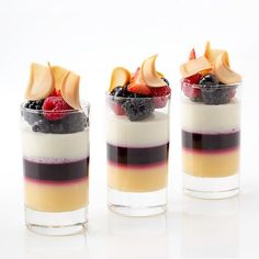 Antonio Bachour - Lime, blueberry and White chocolate verrines