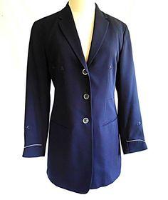 50f792e6fab60 Jil Sander Deadstock Jacket Blazer Coat Long 34 Embroidered Arrows Vintage  90s   eBay Jil Sander