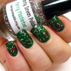 Twenty Seven Polish Merry Mistletoe over Bandi F706 (City Green)