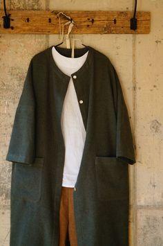 [옷만들기] 치렁치렁 롱셔츠 만들기 : 네이버 블로그 Urban Fashion, Womens Fashion, Sewing Clothes, My Outfit, Duster Coat, How To Make, How To Wear, Normcore, Blazer