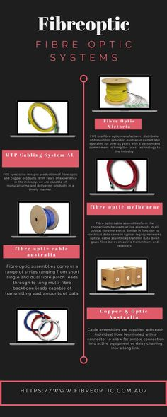 Fibre Optic Systems offers a range of pre-terminated optical cable assemblies including: Customised multi-fibre assemblies Simplex and duplex patch l Fiber Optic Lighting, Fiber Optic Cable, Innovation, Copper, Delivery, Technology, Design, Products, Tech