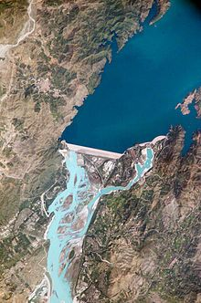 Tarbela Dam -  The dam forms the Tarbela Reservoir, with a surface area of approximately 250-square-kilometre (97 sq mi). The dam was completed in 1974 and was designed to store water from the Indus River for irrigation, flood control, and the generation of hydroelectric power.