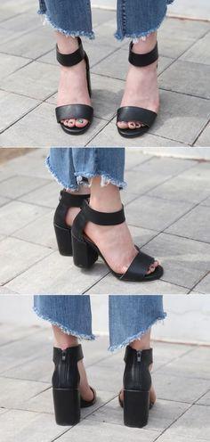 10's trendy style maker 66girls.us! Chunky Heeled Ankle Strap Sandals (DGVZ) #66girls #kstyle #kfashion #koreanfashion #girlsfashion #teenagegirls #fashionablegirls #dailyoutfit #trendylook #globalshopping