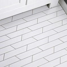 "Retro Soho Chevron 1.75"" x 7"" Porcelain Field Tile"