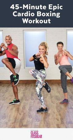 Crush Calories With This Epic Cardio-Boxing Workout - At-Home Cardio Boxing Wor. - Crush Calories With This Epic Cardio-Boxing Workout – At-Home Cardio Boxing Workout – - Home Boxing Workout, Cardio Kickboxing, Cardio Boxing, Kickboxing Workout, Boxing Boxing, Kickboxing Women, Kickboxing Classes, Bodyweight Strength Training, Training Fitness