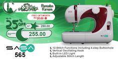 SASA 565 #ramadan #kareem #discount #sale #sewing #machine #sasa #stitch #fashion #online #mall