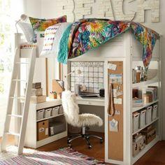 Farbgestaltung Fürs Jugendzimmer U2013 100 Deko  Und Einrichtungsideen    Wandfarben Körbe Ordnung Schreibtisch Zimmer Hochbett