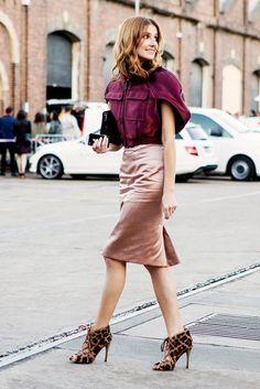 Pour avoir des allures d'une pro du street style : essayez la jupe rose